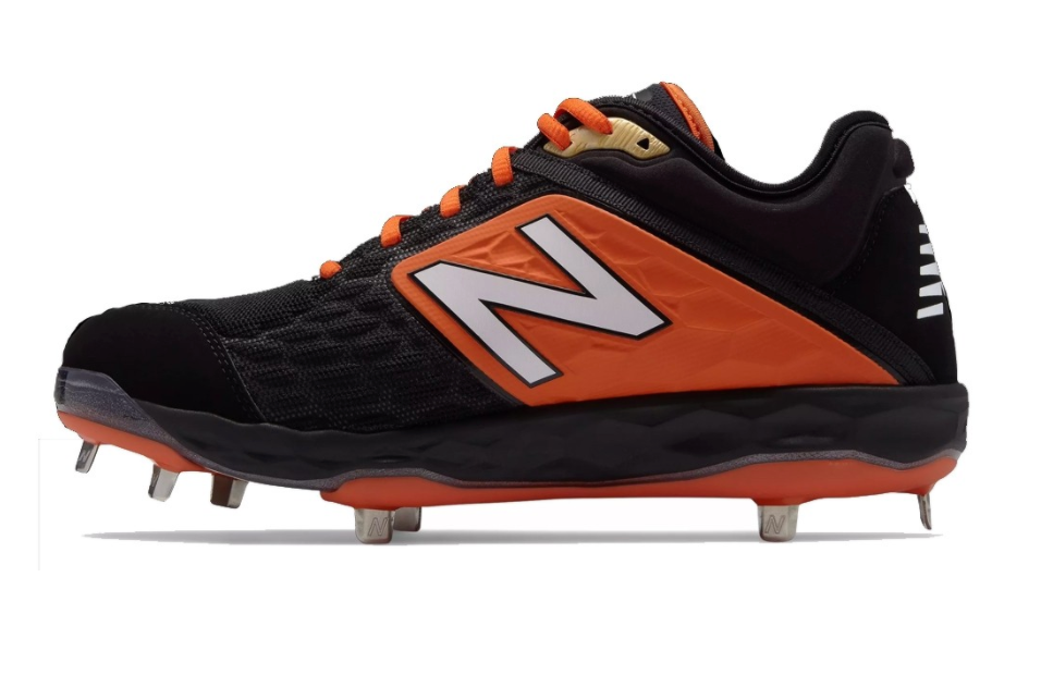 New Balance Mens Metal 3000v4 Baseball Cleat (Black and Orange)