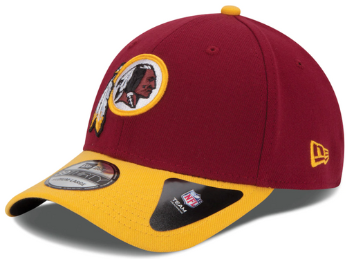 Mens Washington Redskins New Era Burgundy 39THIRTY Team Classic Flex Hat