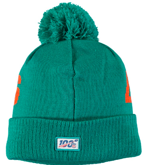 Miami Dolphins On Field Sideline Beanie