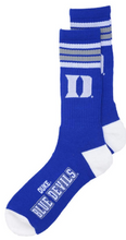 Load image into Gallery viewer, Duke University Blue Devils Crew Socks