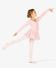 Load image into Gallery viewer, Classic Long Sleeve Ballet Tutu Dress Free Bun Cover Snood