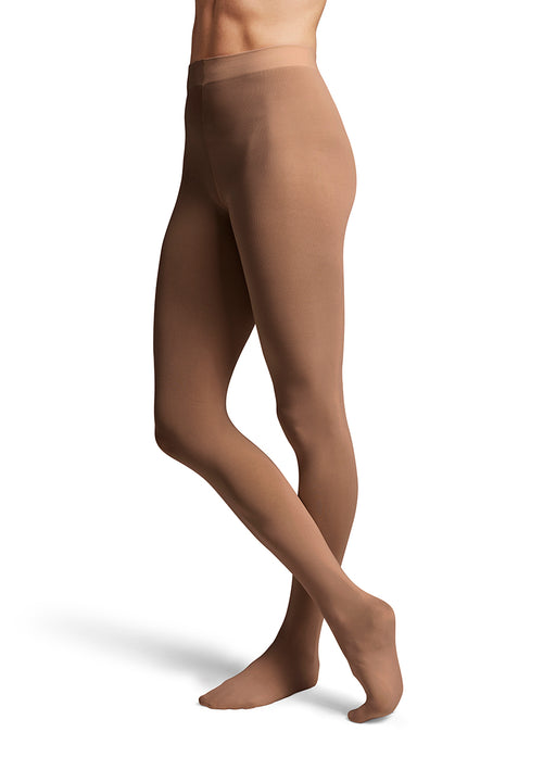 Bloch Contoursoft Ladies Coffee Footed Tight