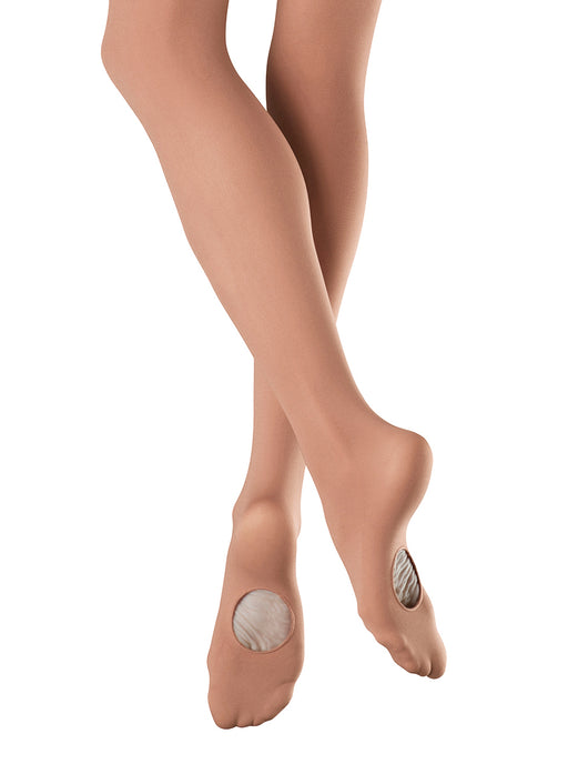 Bloch Adaptatoe Elite Girls' Light Tan Convertible Tights