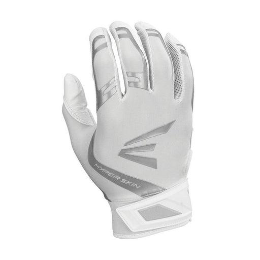 Easton ZF7 VRS Hyperskin Fastpitch Softball Batting Gloves in White - DiscoSports