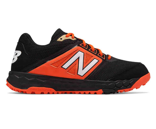 New Balance Fresh Foam 3000v4 Turf Shoe (Black and Orange)