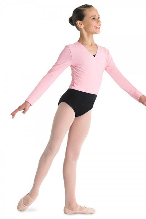 Bloch Girls Crossover Cardigan Front Top