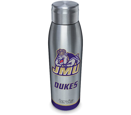 James Madison Dukes Tradition Tervis 17 oz Stainless Steel Slim Bottle With Lid