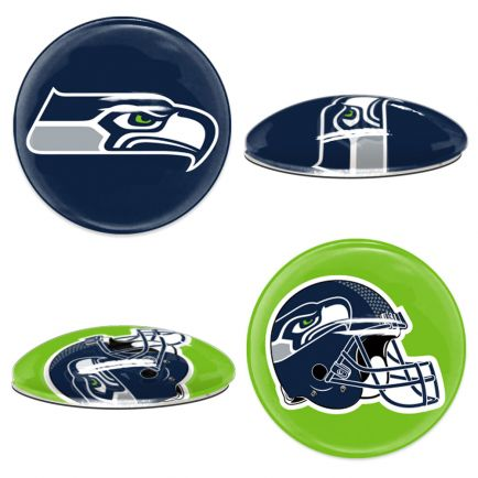 Seattle Seahawks Sport Dotts 2-Pack Glass Magnets
