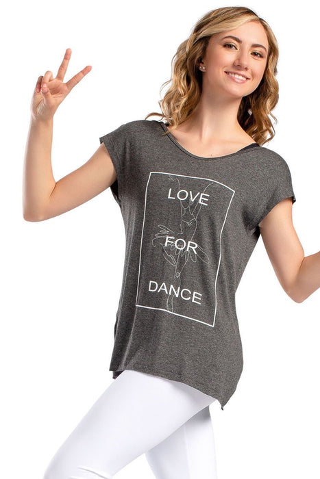 "So Danca ""Love For Dance"" Flowy Shirt Top"