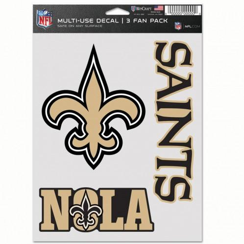 New Orleans Saints Multi Use 3 Pack Fan Decal