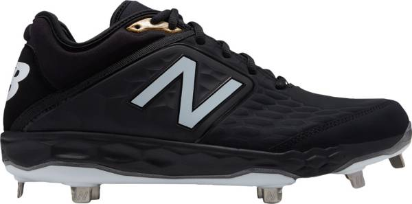 New Balance Men's 3000 V4 Metal Baseball Cleats (Black and White)