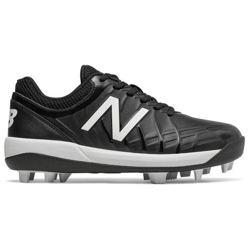 New Balance Youth 4040v5 Low Molded Baseball Cleats (Black and White)