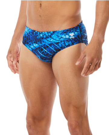 TYR Plexus Racer Brief in Blue