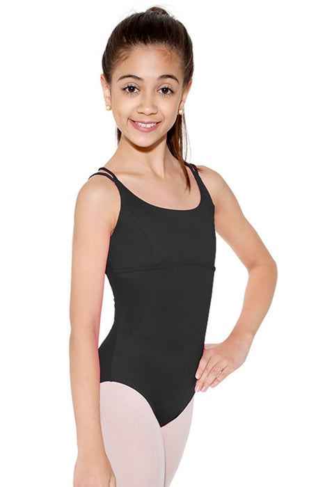 So Danca Child Camisole Leotard with Empire Wast and Crisscrossed Back