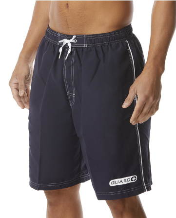 TYR Guard Men's Challenger Swim Shorts in Navy and Red