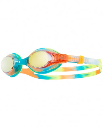 TYR Kid's Swimple Mirrored Tie-Die Goggle - DiscoSports