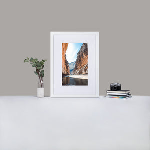 Big Bend National Park Matte Paper Framed Poster With Mat