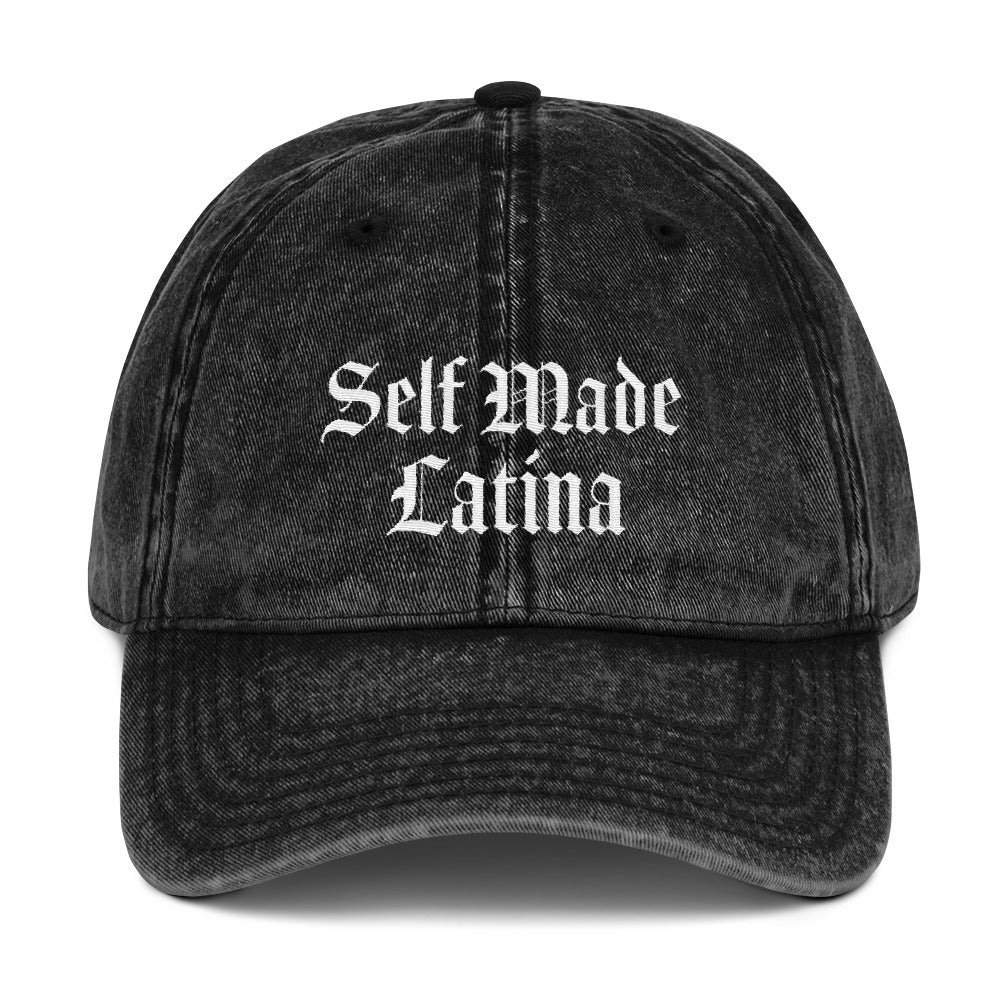 Self Made Latina Vintage Cotton Twill Cap