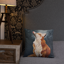 Load image into Gallery viewer, Painted Fox Pillow