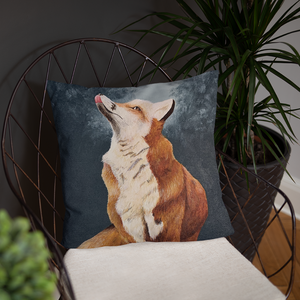 Painted Fox Pillow