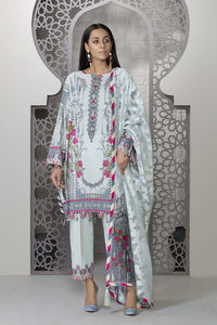Sapphire 3 Piece Unstitched Digital Printed Textured Lawn Floral Fantasy - V4