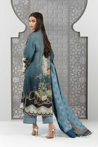Sapphire 3 Piece Unstitched Digital Printed Lawn Ocean Winds-V4