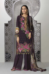 Sapphire 3 Piece Unstitched Embroidered Self Jacquard Rosy Palette - V4