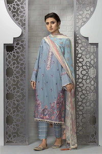 Sapphire 3 Piece Unstitched Embroidered Suit Myosotis - V4