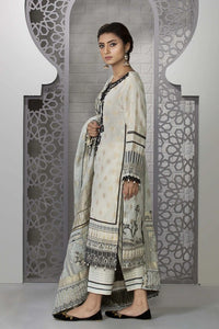 Sapphire 3 Piece Unstitched Embroidered Suit Limestone - V4