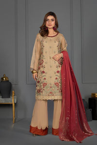 Sapphire 3 Piece Unstitched Embroidered Ladies Suit Aureate - V4