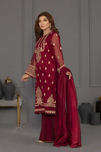 Sapphire 3 Piece Unstitched Embroidered Ladies Suit Cherry Affair - V4