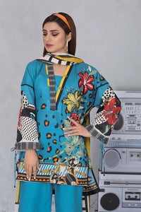Sapphire 3 Piece Unstitched Printed & Embroidered Fine Lawn Urban Jungle - V4