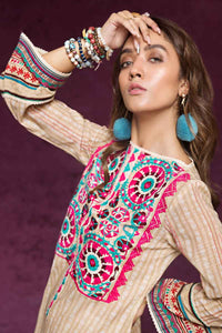 1Pc-Embroidered-Khaddar-Shirt-with-Embroidered-Lace-SK-66