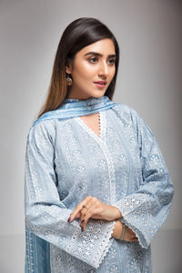 Ready to wear Gul Ahmed Embroidered Lawn with Chiffon  Piece Suit WGB-237