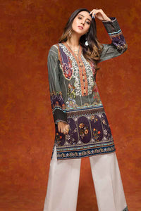 Gul Ahmed 1PC Digital Printed Khaddar shirt with Embroidered neckline SK-70