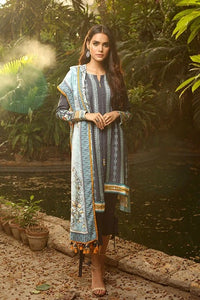 Lakhany Aangan Embroidered Unstitched 3 Piece Suit AE-6601 B