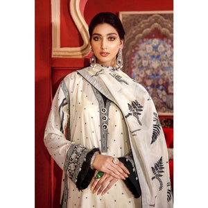 3PC Stitched Festive Embroidered Suit with Embroidered Lawn Dupatta FE-314