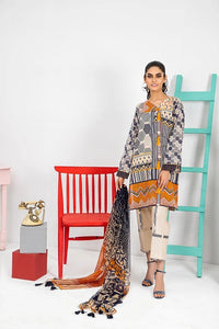 Komal VOL 2 By LSM Printed Lawn Stitched 3 Piece Suit KP-2018