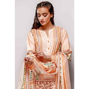 Gul Ahmed 3PC Printed Lawn Suit CL-729 B
