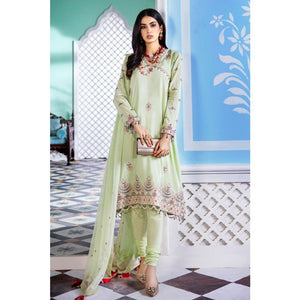 3PC Stitched Festive Embroidered Suit with Embroidered Chiffon Dupatta FE-323