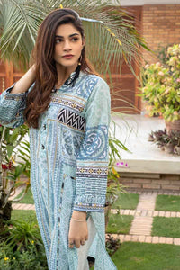 Gul Ahmed Mother COLLECTION Blue & Dark Brown CL-641