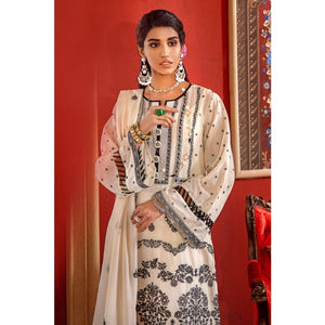 Gul Ahmed 3 PC Embroidered-Suit with Lawn Dupatta FE-313