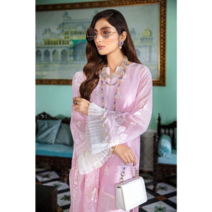 Gul Ahmed 3 PC Embroidered-Suit with Organza Dupatta FE-341