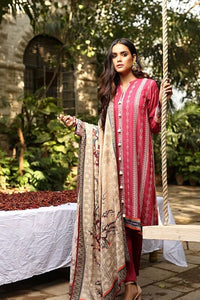 Lakhany Aangan Embroidered Stitched 3 Piece Suit AE-6601 A