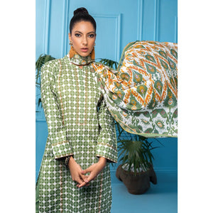 Gul Ahmed 3 PC Unstitched Printed Cambric Suit CBN-114 A