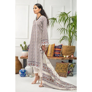 Gul Ahmed 2 PC Unstitched Printed Cambric Suit CNT-04