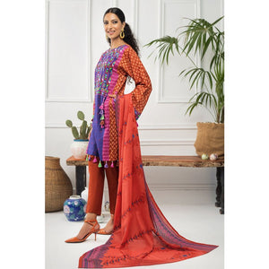 Gul Ahmed 3 PC Unstitched Printed Cambric Suit CBN-123