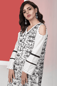 Ready to wear Embroidered Lawn Stitched Kurti By LSM-1554-ST