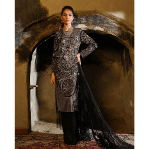 SANA SAFINAZ LUXURY EID 18-03B - BLACK