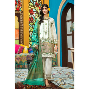 Gul Ahmed 3 PC Embroidered-Suit with Yarn Dyed Jacquard Dupatta FE-288